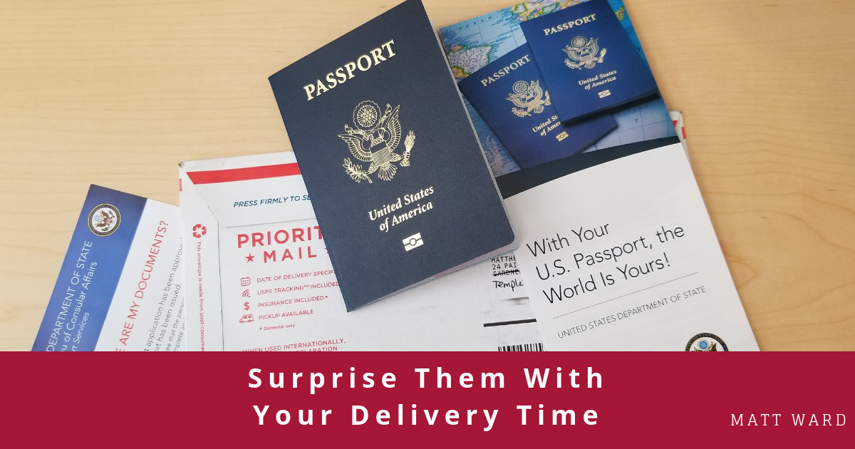 Surprise Them With Your Delivery Time
