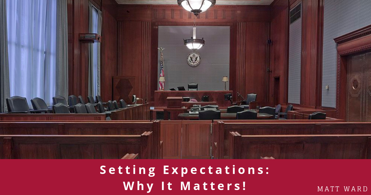 Setting Expectations Why It Matters