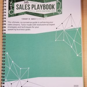 The Sales Playbook Offered by the National Speakers Association at the Winter 2020 Conference
